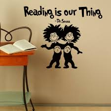 wall art with sayings vinyl wall quotes dr seuss reading is our thing dr seuss vinyl wall decals quotes