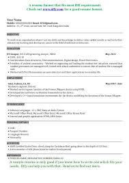 sample software engineer resume best 25 sample resume format