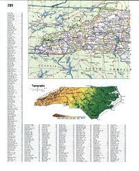 Map Of N Carolina Topographic Map Of North Carolinafree Maps Of North America