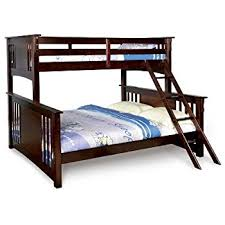 Amazoncom Furniture Of America Pammy Twin Over Queen Bunk Bed - Twin over queen bunk bed