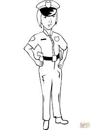 woman police officer coloring page free printable coloring pages