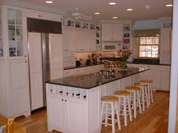White Beadboard Kitchen Cabinets White Beadboard Kitchen With Lite Rub Country Cabinets