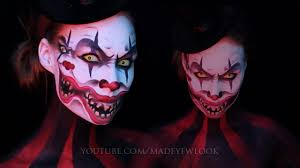 halloween clown background double face clown makeup tutorial dual youtube