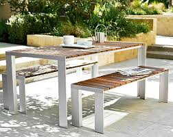 Patio Furniture Table Contemporary Outdoor Dining Table From Design Within Reach The