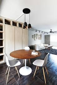Zen Home Design Singapore Dining Room Design Ideas Round Dining Tables In Open Concept Hdb