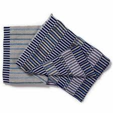 woven throw blanket in navy atwood designs