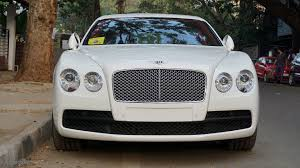 white bentley spotted white satin bentley new flying spur v8 youtube