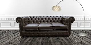 brown faux leather chesterfield sofa designersofas4u