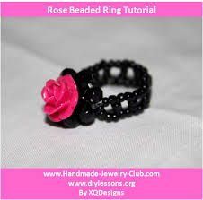 make jewelry rings images How to make beaded rose ring jewelry making video tutoria flickr jpg