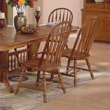 oak dining room set solid oak dining table arrowback chair set by e c i furniture