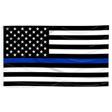 With All Flags Flying Thin Blue Line American Flag With Grommets Thin Blue Line Usa