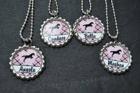 bottle cap necklaces wholesale 4 personalized horse bottlecap necklace party favor you