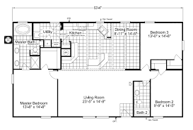 the cypress sa30543c manufactured home floor plan or modular floor