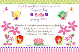 Create Birthday Invitation Cards Fairy Birthday Invitations Kawaiitheo Com