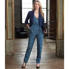 sewing pattern misses jumpsuit slim or wide legs dress jacket 8178