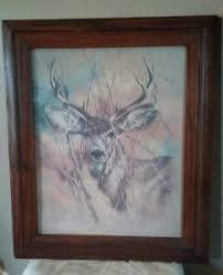 home interior deer pictures vintage 1978 homco home interior deer picture 17 x20 by k maroon