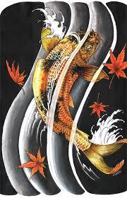 cool oriental japanese gold lucky koi fish tattoo tattoomagz