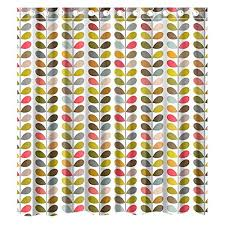 Waterproof Fabric Shower Curtains Custom Orla Kiely Colorful Leaf Waterproof Bathroom Shower Curtain