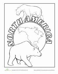 north america worksheet education