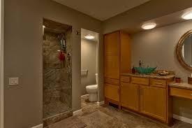 yosemite home decor sinks contemporary 3 4 bathroom with complex granite vessel sink in