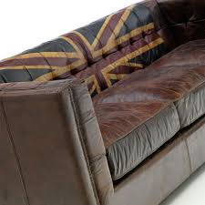 Aged Leather Sofa Andrew Martin Armstrong Union Jack Sofa Houseology
