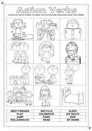verbs worksheet it covers action verbs past present future tense