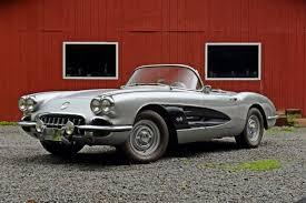 1960 chevrolet corvette a silver 1960 chevrolet corvette mined from a barn in vermont
