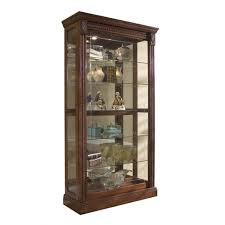 Medallion Kitchen Cabinets Reviews by Pulaski Medallion Cherry Curio Cabinet 20485