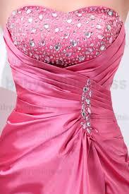 Draped Bodice Dress 2017 Strapless Satin Crystal Ruffles Split Draped Bodice Prom