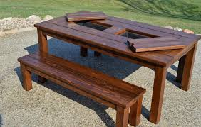 Patio Seating Ideas How To Make Wood Patio Table Modern Table Design