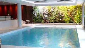 Small Indoor Pools Beautiful White Wood Glass Modern Design Small Indoor Pool And