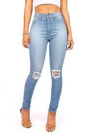Light Blue High Waisted Jeans Vibrant Women U0027s Juniors Faded Ripped Knee High Waist Skinny Jeans