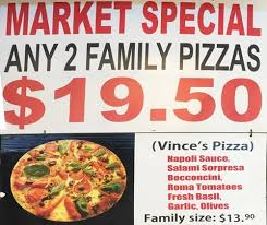 half price restaurant menu at vinnies half price pizza 18 cramer st restaurant prices