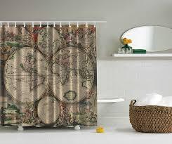 World Map Fabric by Online Get Cheap Orange Fabric Shower Curtain Aliexpress Com
