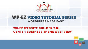 Themes Builder 2 0 | wp ez website builder 2 0 center business theme overview youtube