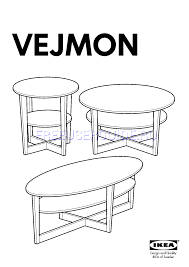 Vejmon Side Table Assembly Instruction For Tables Ikea Vejmon Coffee Table Oval