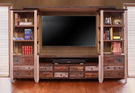 Barn Wood Entertainment Center Wall Units Glamorous Rustic Wall Unit Marvelous Rustic Wall Unit