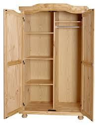 armoire chambre 2 portes armoire contemporaine 2 portes en pin massif naturel elodie