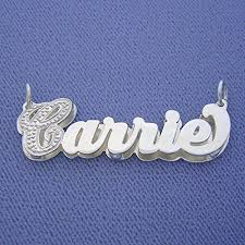 3d nameplate necklace silver personalized name pendant charm jewelry