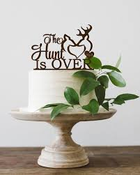 buck and doe wedding cake topper the hunt is wedding cake topper wooden wedding deer cake