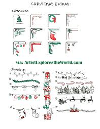 hand drawn christmas lights collection free vector pp
