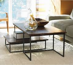 pottery barn nesting tables coffee table glamorous nesting coffee tables nesting tables target