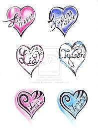 beautiful heart names tattoo design for boys picsmine