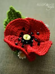 Crochet Designs Flowers 13 Best 5000 Poppies Images On Pinterest Knit Crochet Crochet