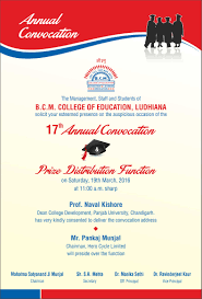 Invitation Cards For Alumni Meet Ximg1annual Convocation Card Bcm 4 Jpg