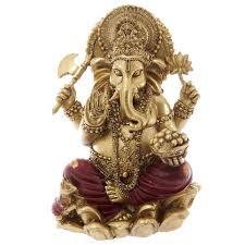 ganesh figurine gold ganesha the elephant god figure