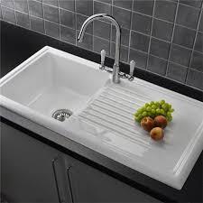 cheap ceramic kitchen sinks reginox white ceramic 1 0 bowl kitchen sink with mixer tap at