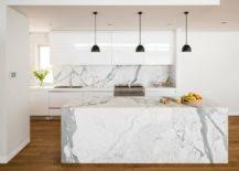 carrara marble kitchen island polished panache transform your kitchen island with marble magic