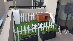 you are stuck with a dog and nothing but a balcony for a yard this is