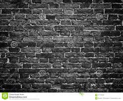 black wall texture gloomy background black brick wall of dark stone texture stock